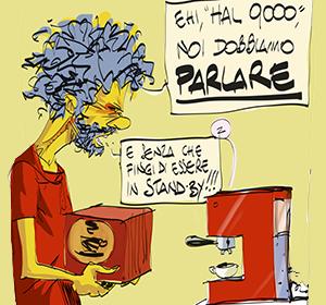 makkox parla con la macchina del caffé
