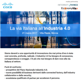 La via italiana all'industria 4.0 – 21 marzo 2017